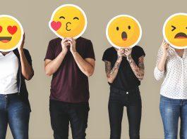 gente expresando sentimientos con caras emojis